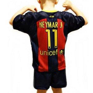 6fe1560e6c6347 Komplet piłkarski Reda Barcelona Neymar 11 junior granatowo-czerwony