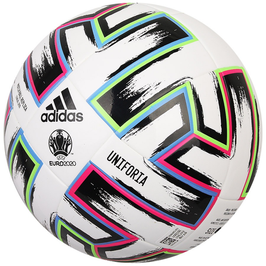 Biała piłka nożna Adidas Uniforia League 290g EURO 2020 FH7351 Junior rozmiar 4