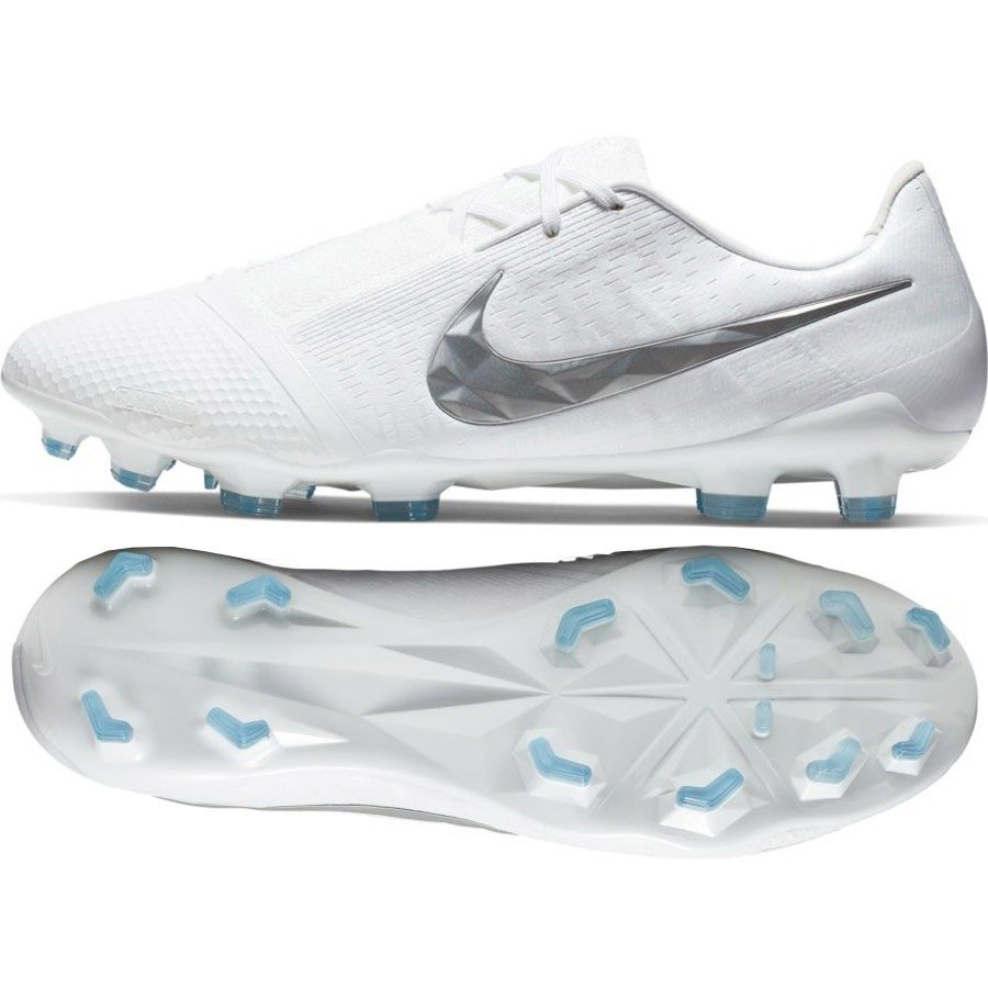 Białe buty piłkarskie korki Nike Phantom Venom Elite FG AO7540 100