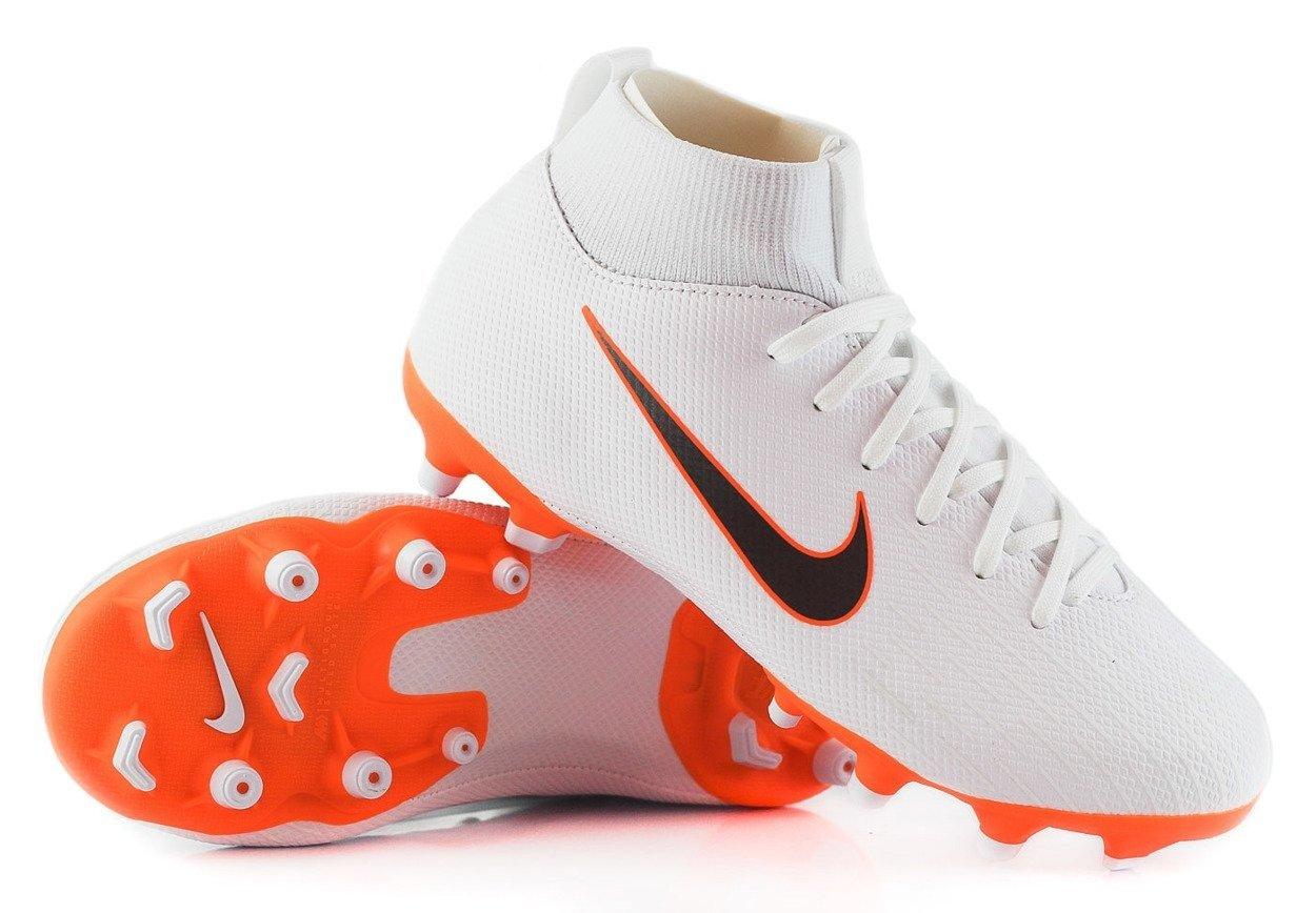 sklep internetowy niesamowity wybór ekskluzywny asortyment Biało-pomarańczowe buty piłkarskie Nike Mercurial Superfly Academy MG  AH7337-107 JR