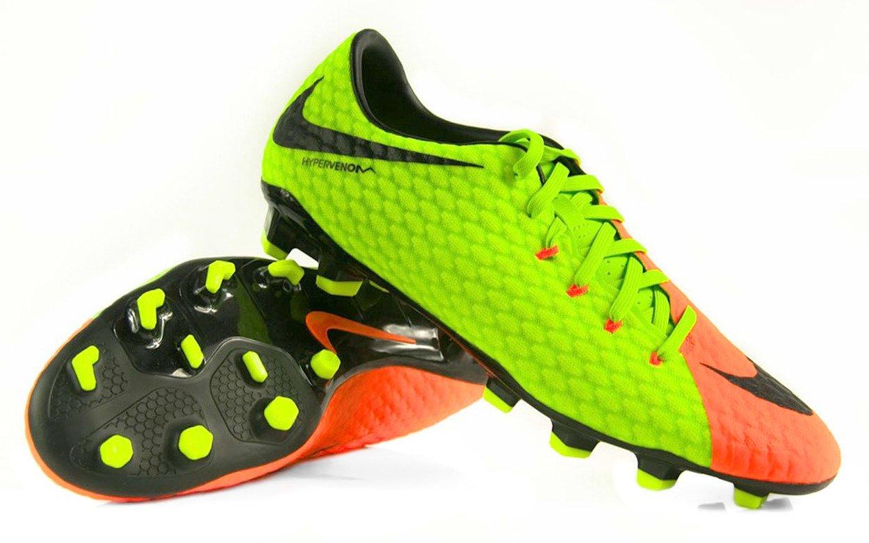 połowa ceny sprzedaż hurtowa najlepiej tanio Zielono-pomarańczowe buty piłkarskie Nike Hypervenom Phelon FG 852556-308