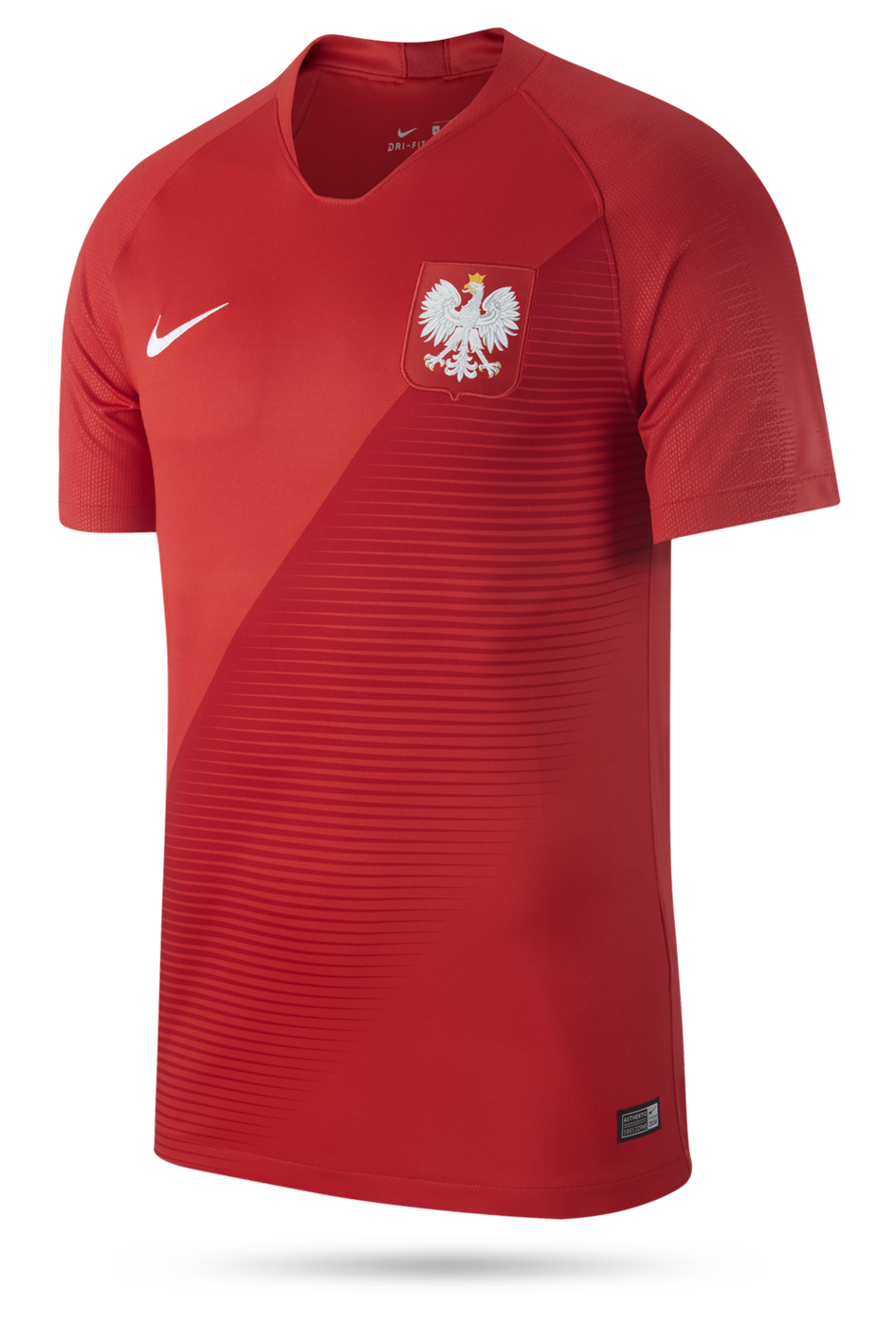 Czerwona koszulka Nike Polska Breathe Stadium 893892 611