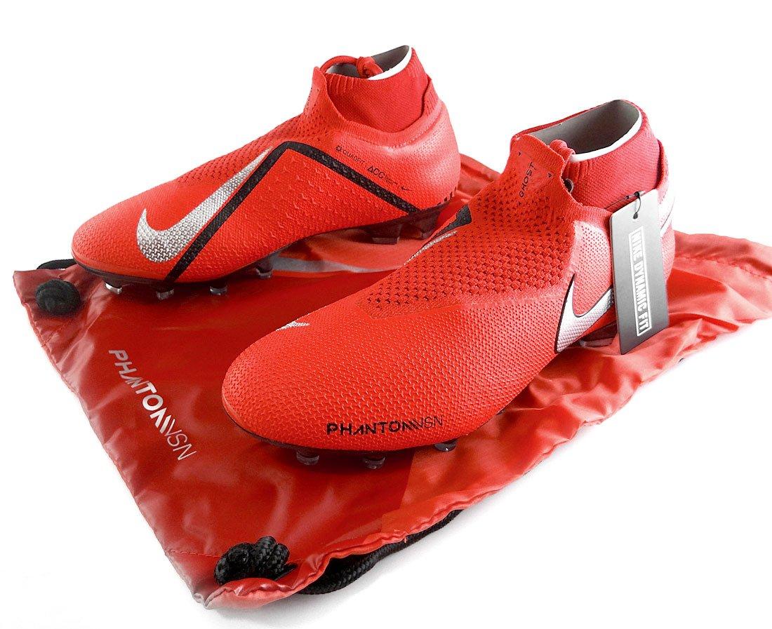 Czerwone buty piłkarskie Korki lanki Nike Phantom VSN Elite DF FG AO3262 600 profes.