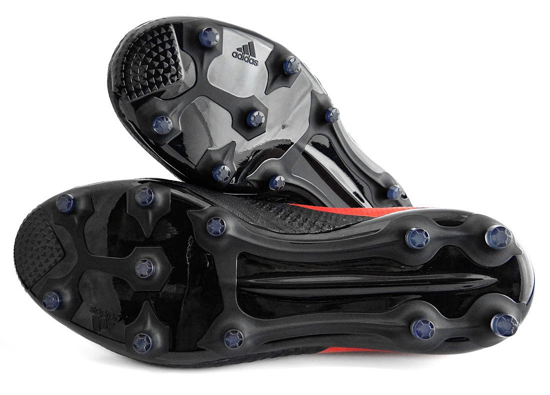 Czerwono czarne buty piłkarskie Adidas ACE 17.1 FG BA9214 JR