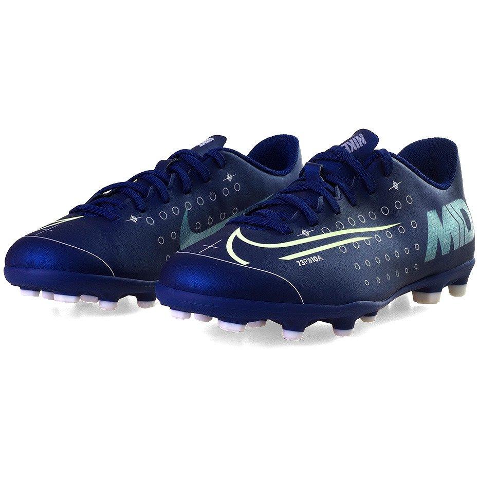 Granatowe buty piłkarskie korki Nike Mercurial Vapor 13 Club GS FGMG CJ1293 401