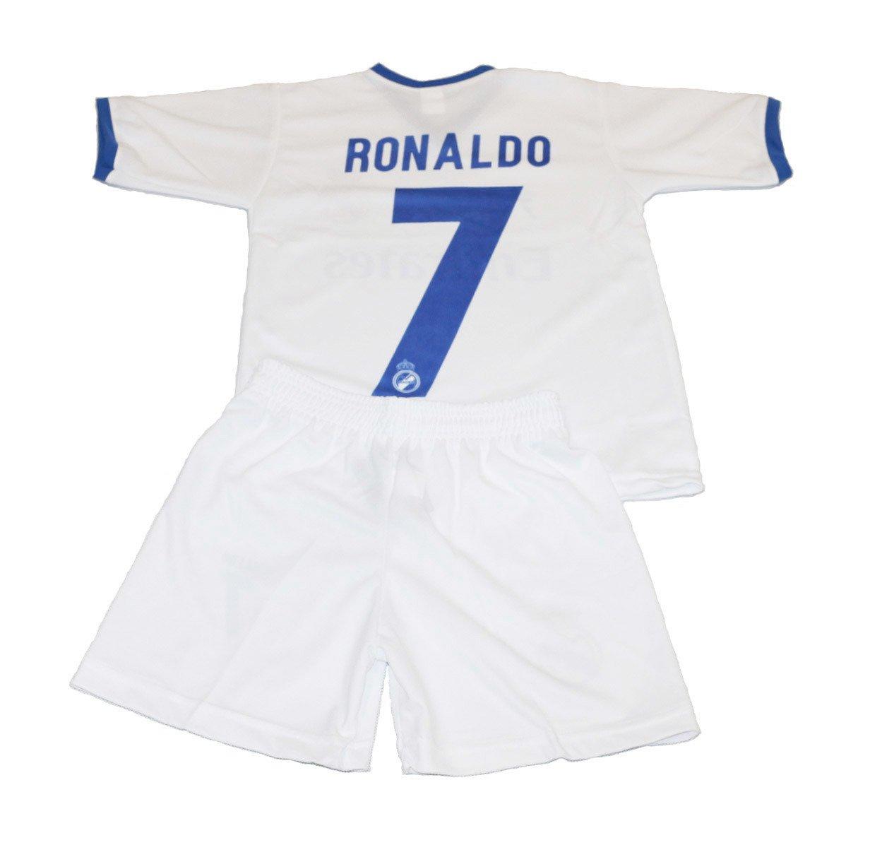 9c32788f9f796e ... Komplet piłkarski Reda Madrid Ronaldo 7 junior biało-niebieski Kliknij,  aby powiększyć