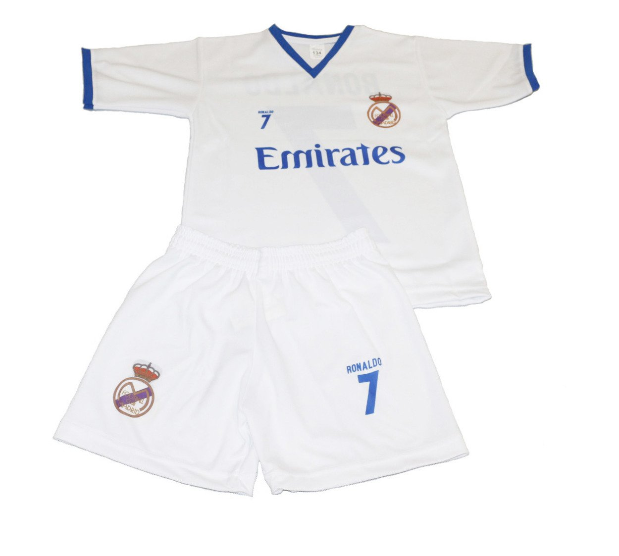313c906c90d2aa Komplet piłkarski Reda Madrid Ronaldo 7 junior biało-niebieski ...