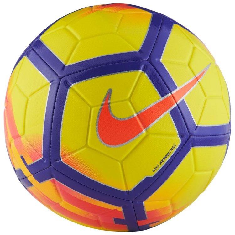 Piłka Nike Strike Premier League BiałyFioletowyPomarańczowy