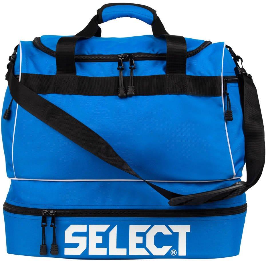 Niebieska torba sportowo treningowa Select z podwójnym dnem 53L