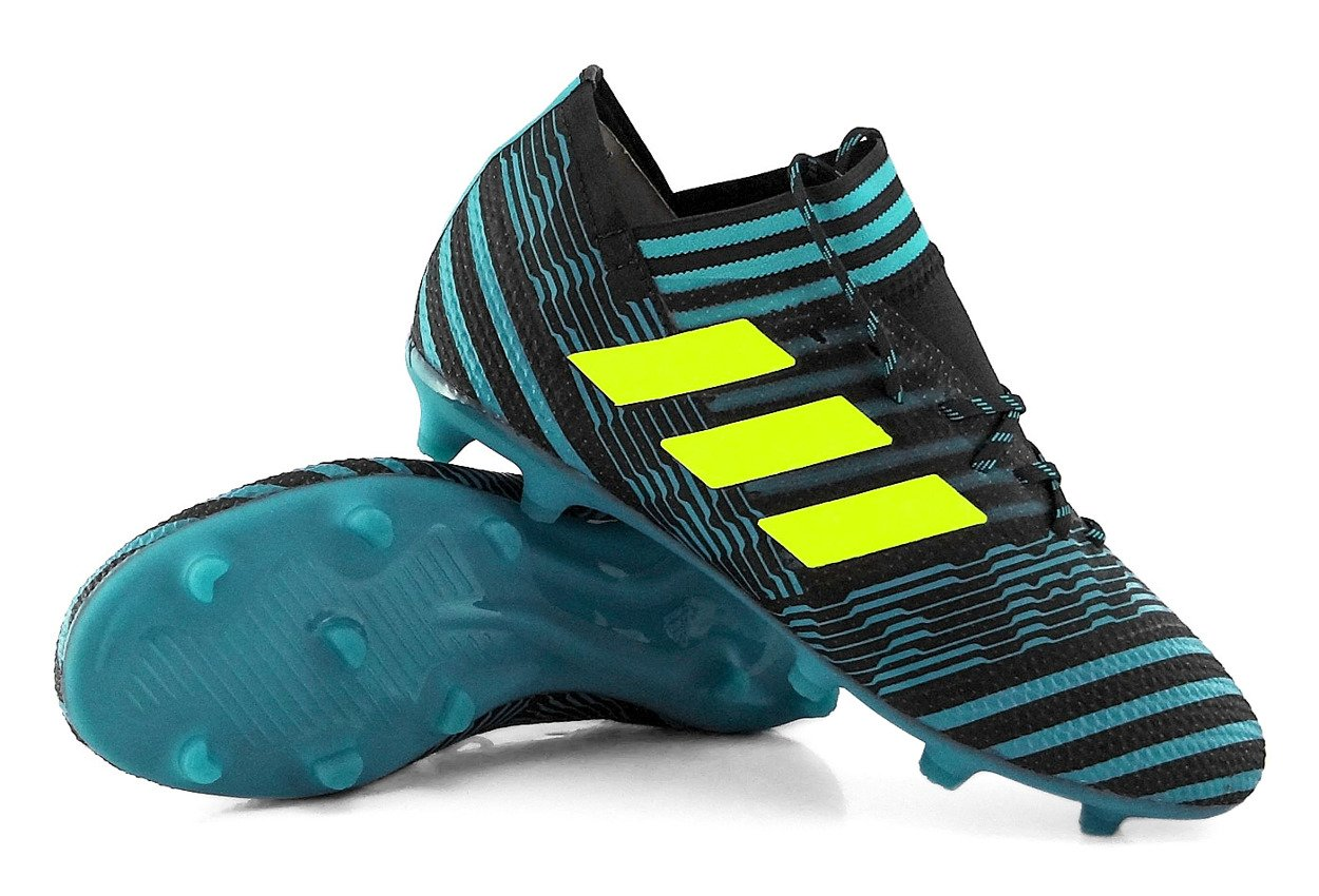 największa zniżka kupuję teraz ekskluzywne buty Niebieskie buty piłkarskie Adidas Nemeziz 17.1 FG J S82418 Profes