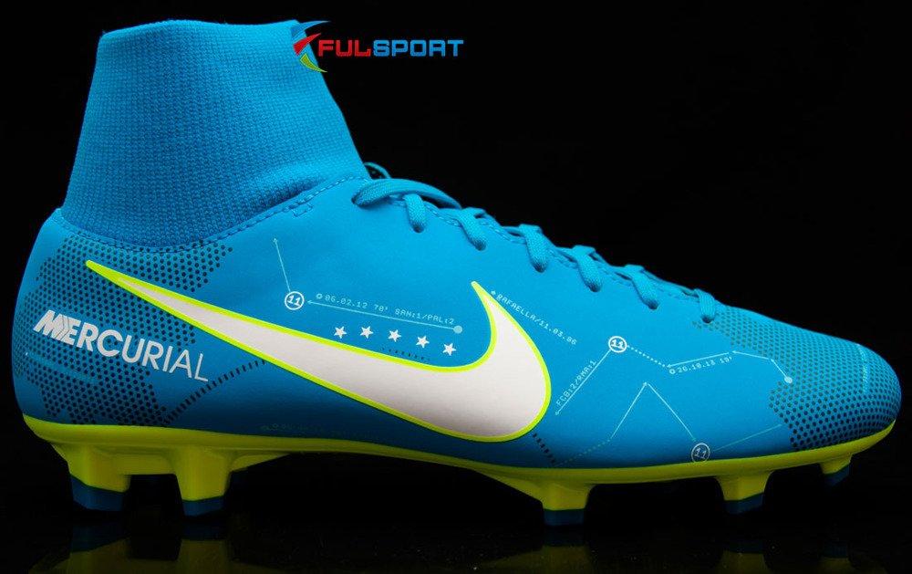 detailed look b3f5f b8ea7 Niebiesko-żólte buty piłkarskie Nike Mercurial Victory Njr DF FG 921486-400  JR