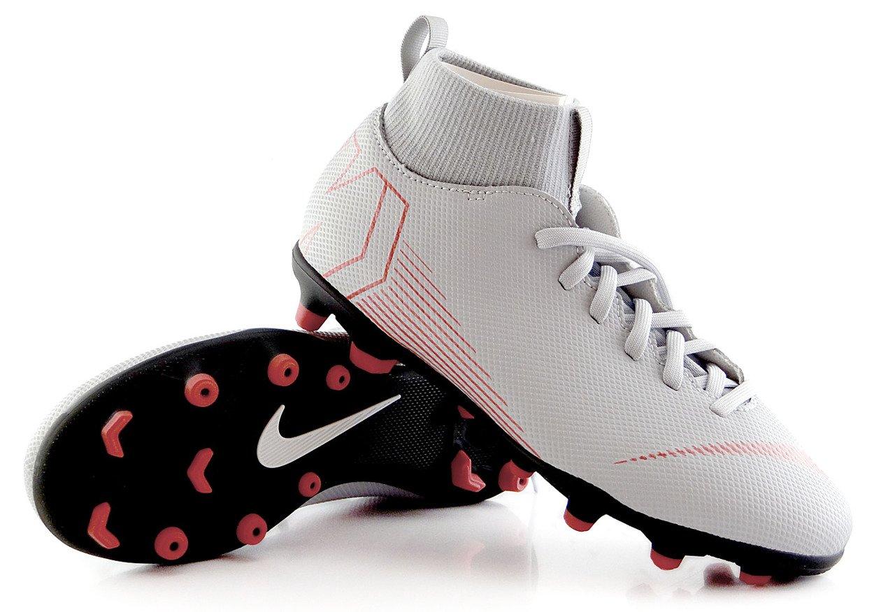 Szaro czarne buty piłkarskie Nike Mercurial Superfly Club FGMG AH7339 060 JR
