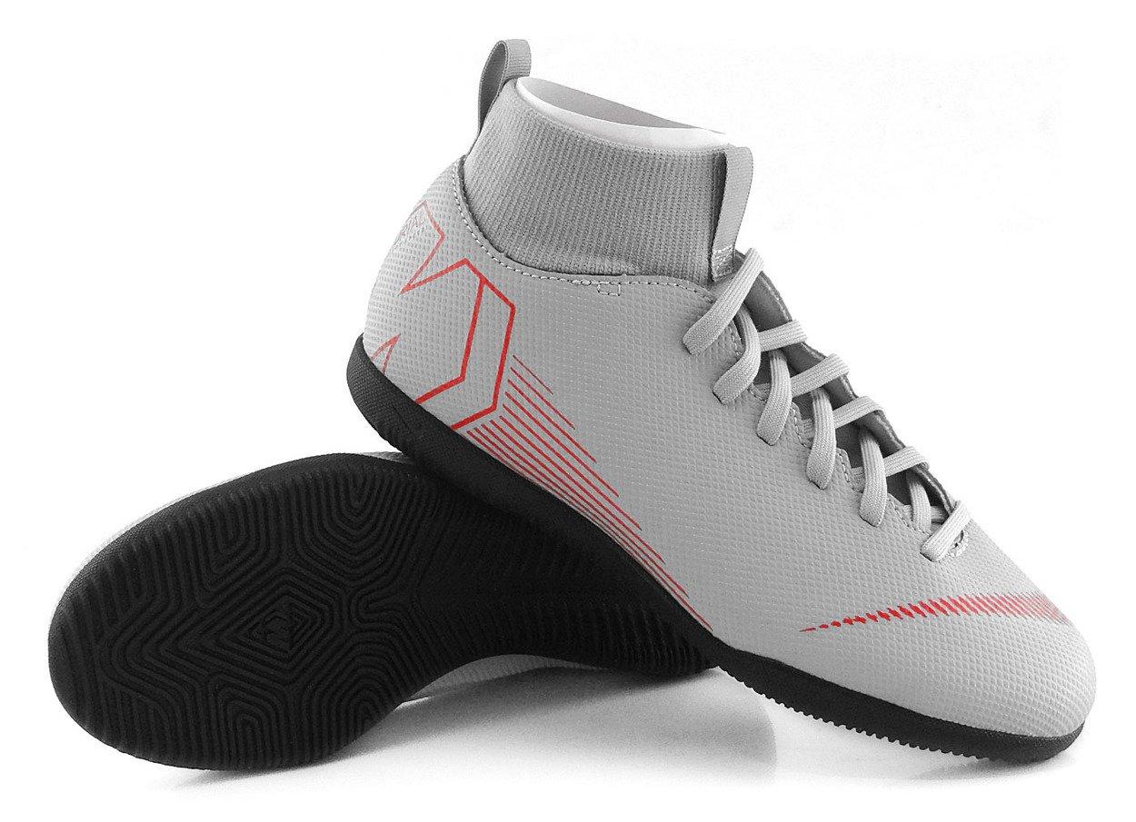 wiele modnych sprzedaż usa online bliżej na Szaro-czarne buty piłkarskie na halę Nike Mercurial Superfly Club IC  AH7346-060 JR