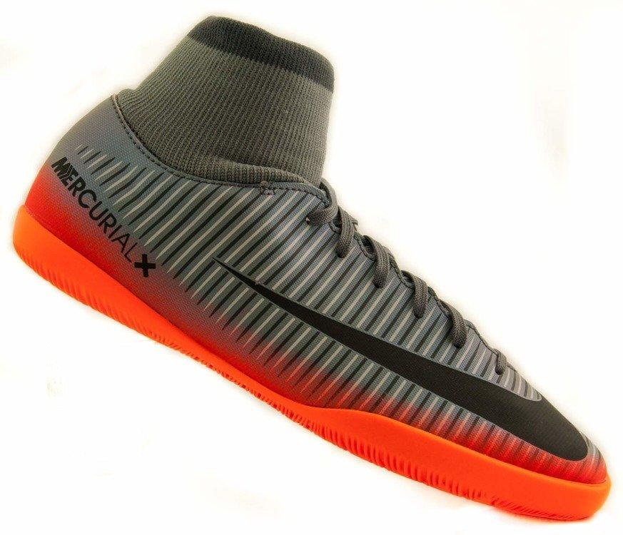 Całkiem nowy fabrycznie autentyczne buty jesienne Szaro-pomarańczowe buty piłkarskie Nike Mercurial Victory CR7 IC 903598-001  JR