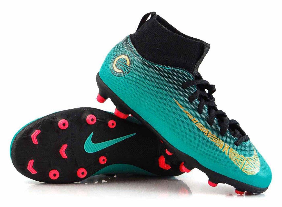 low priced 1e0db 0a733 Zielone buty piłkarskie Nike Mercurial Superfly Club CR7 MG AJ3115-390 JR