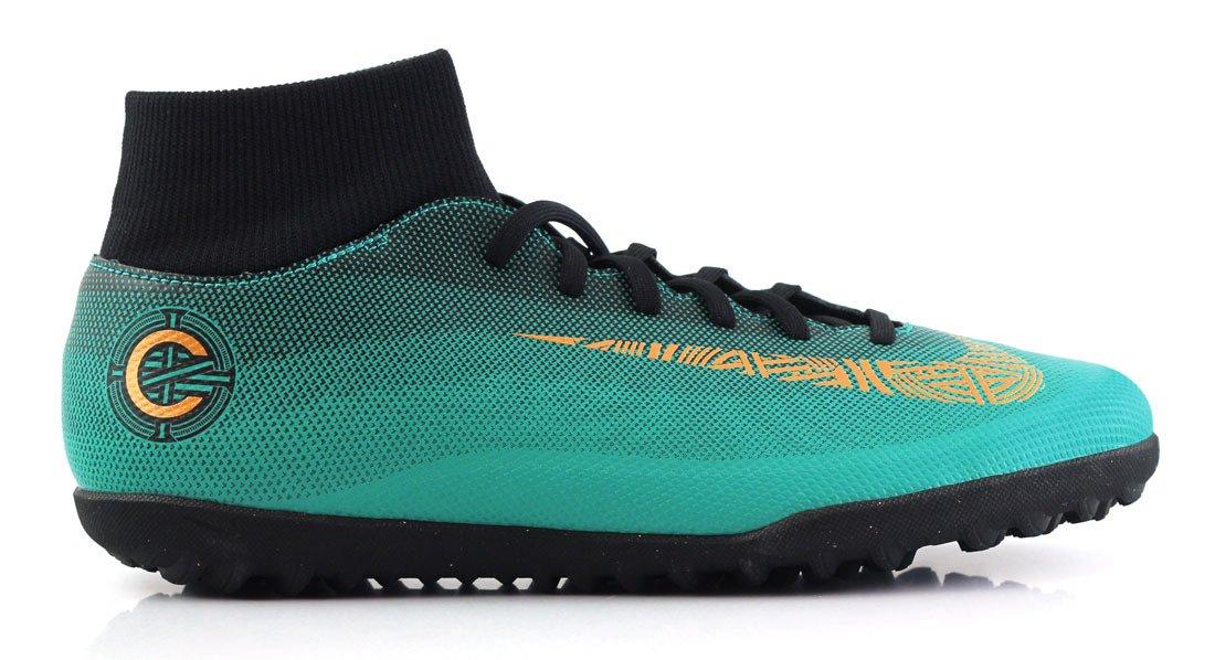 Zielono czarne buty piłkarskie na orlik Nike Mercurial Superfly Club CR7 TF AJ3570 390