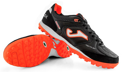 a21e69252 Kliknij, aby powiększyć · Czarno-pomarańczowe buty piłkarskie na orlik Joma  Top Flex 901 Turf